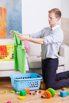 """Add """"Dots"""" to Your Laundry outtaspaceorganizing.com"""